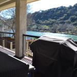 Lake Austin Vacation Back Porch View