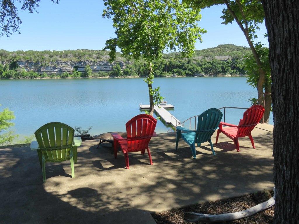 Lake Travis Getaway Sitting Area View