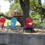 Lake Travis Getaway Sitting Area by the Lake