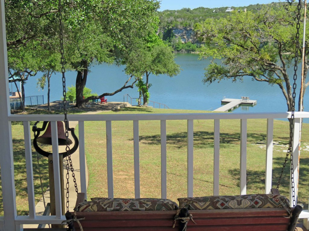 Lake Travis Getaway View from Porch