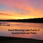 Sunrise on Lake Travis From the Patio