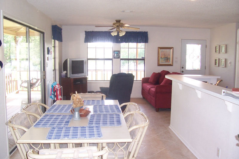 Lake Travis Getaway Dining and Living Room