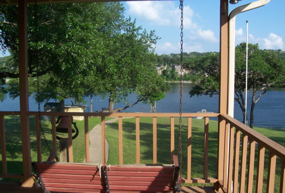 Lake Travis Getaway Porch Views